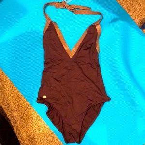 New Jette Joop France S daring V swimsuit metallic